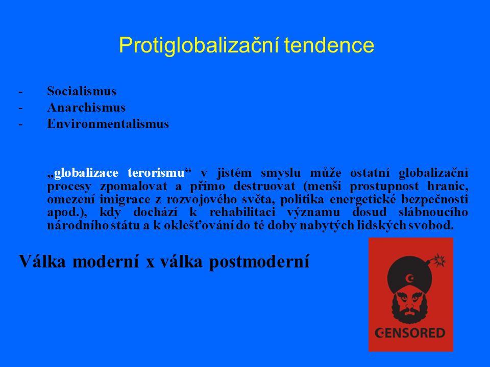 Protiglobalizační tendence