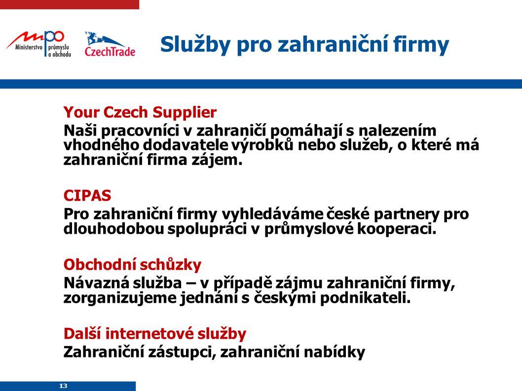 Služby pro zahraniční firmy
