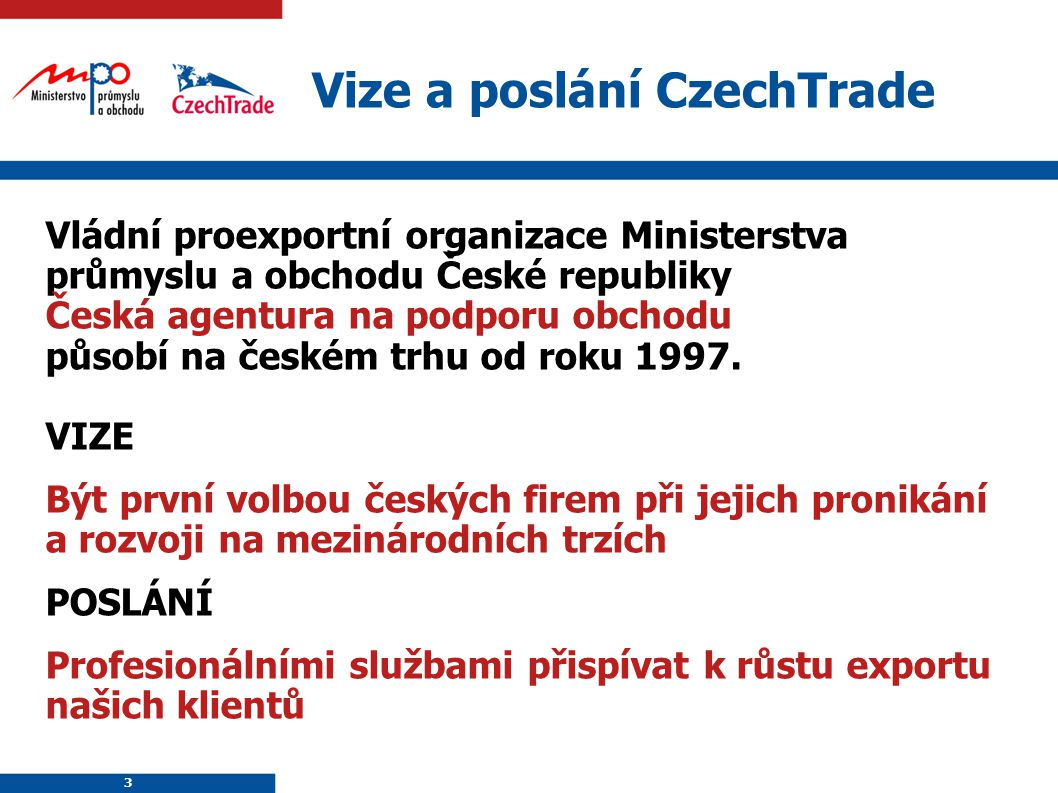 Vize a poslání CzechTrade