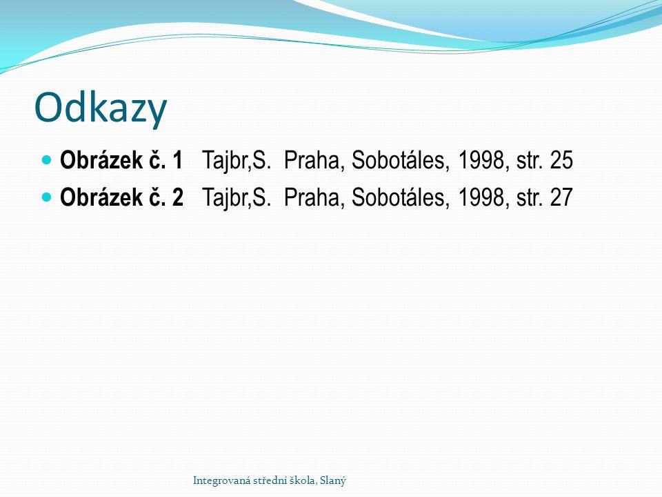 Odkazy Obrázek č. 1 Tajbr,S. Praha, Sobotáles, 1998, str. 25