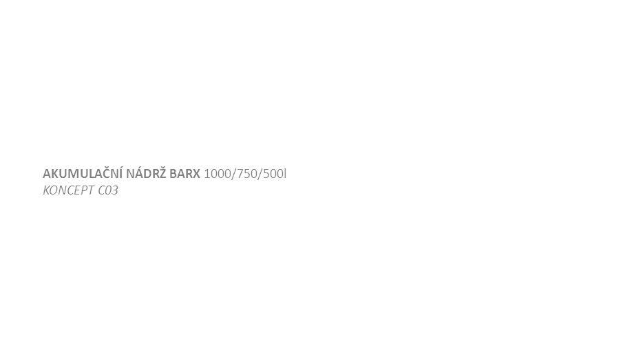 AKUMULAČNÍ NÁDRŽ BARX 1000/750/500l