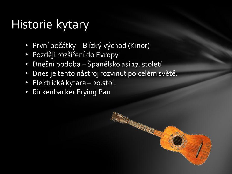 Historie kytary První počátky – Blízký východ (Kinor)