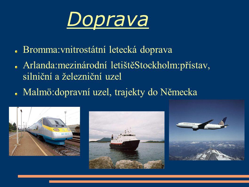 Doprava Bromma:vnitrostátní letecká doprava