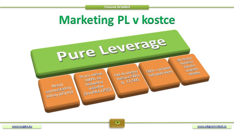 Pure Leverage Marketing PL v kostce Nový samostatný zdroj příjmů