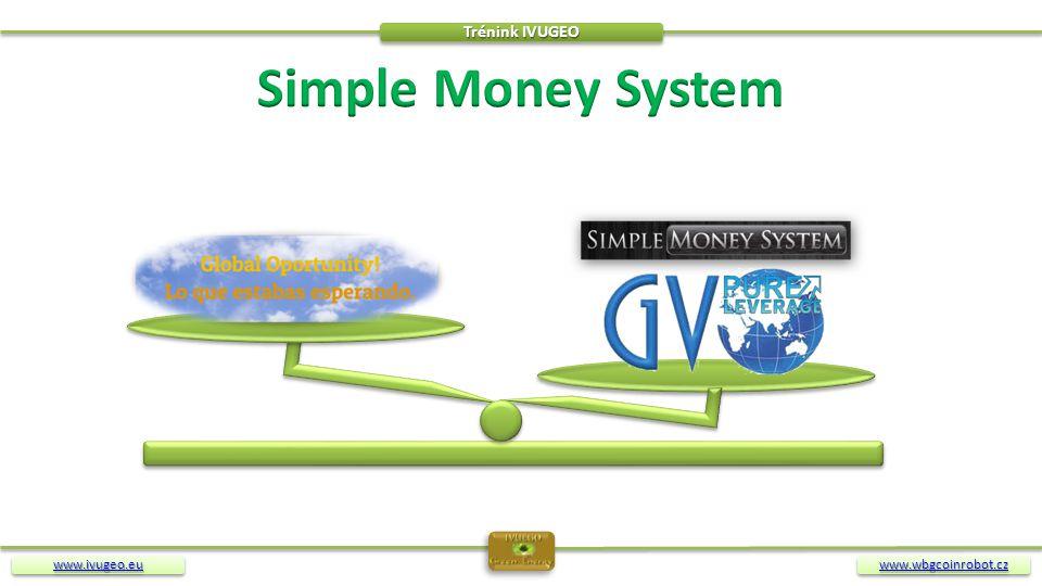 Trénink IVUGEO Simple Money System www.ivugeo.eu www.wbgcoinrobot.cz