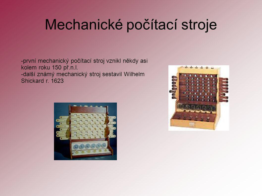 Mechanické počítací stroje