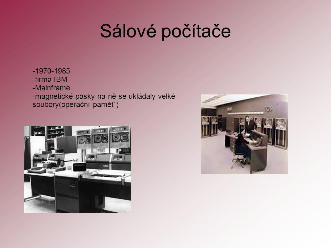 Sálové počítače -1970-1985 -firma IBM -Mainframe