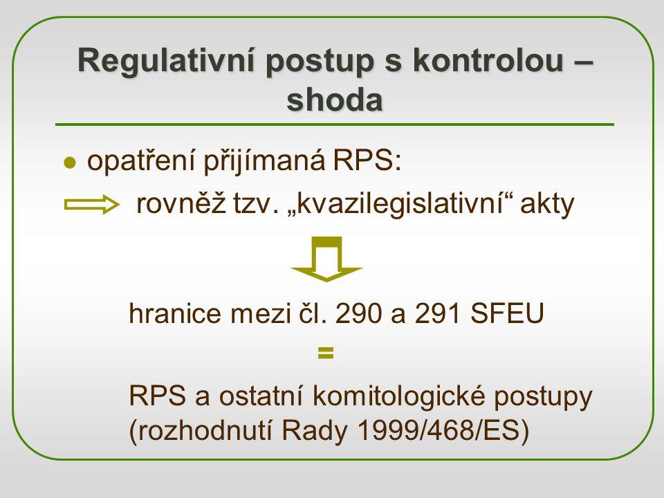 Regulativní postup s kontrolou – shoda