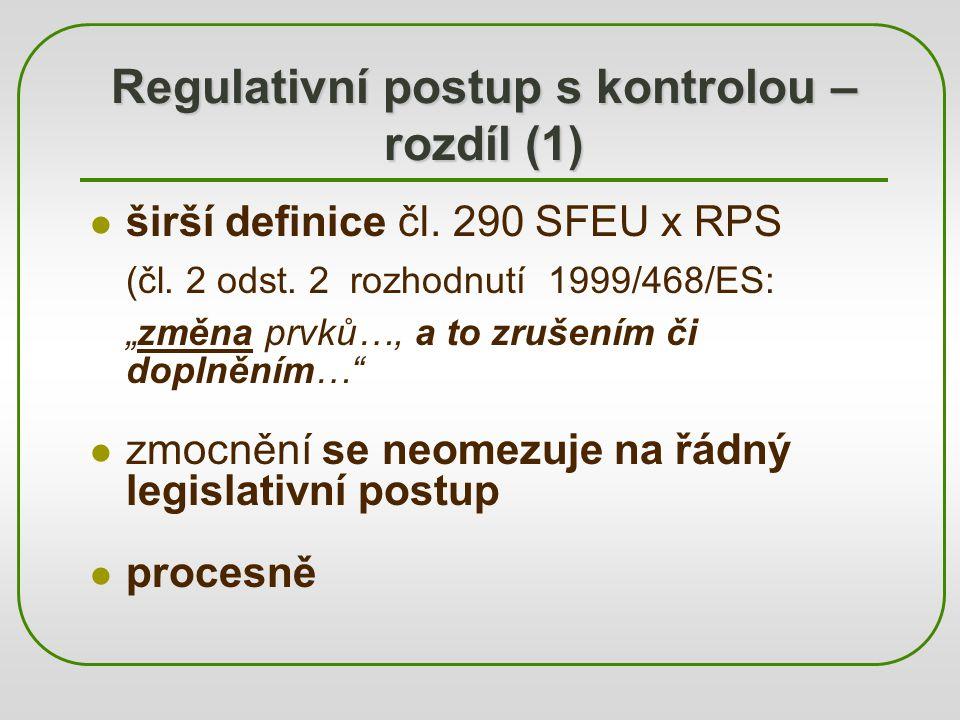 Regulativní postup s kontrolou – rozdíl (1)