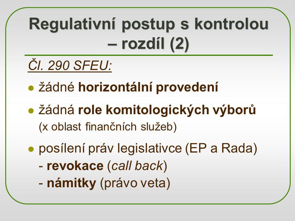 Regulativní postup s kontrolou – rozdíl (2)