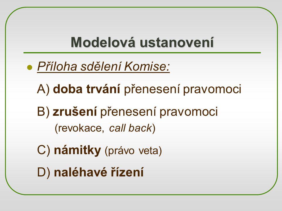 Modelová ustanovení Příloha sdělení Komise:
