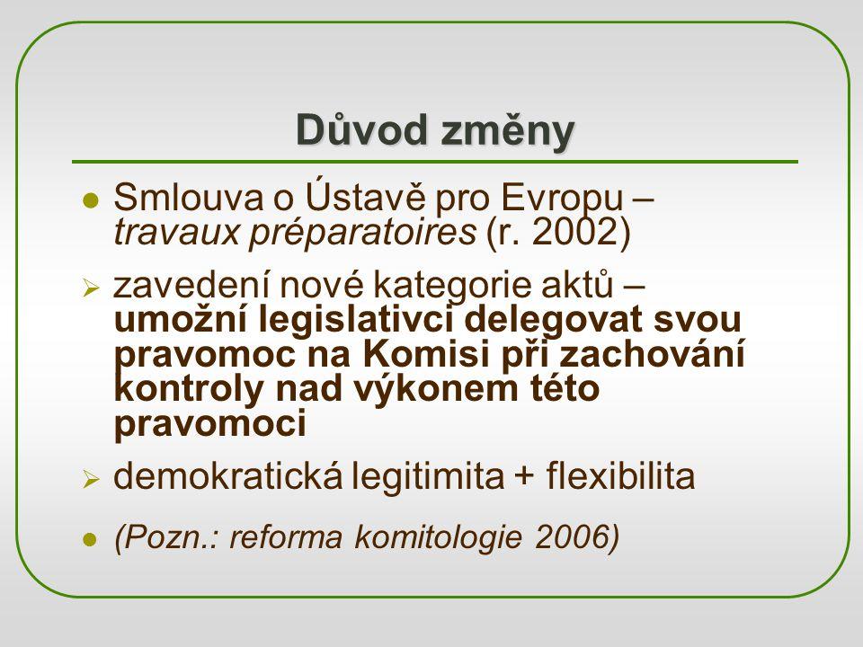 Důvod změny Smlouva o Ústavě pro Evropu – travaux préparatoires (r. 2002)