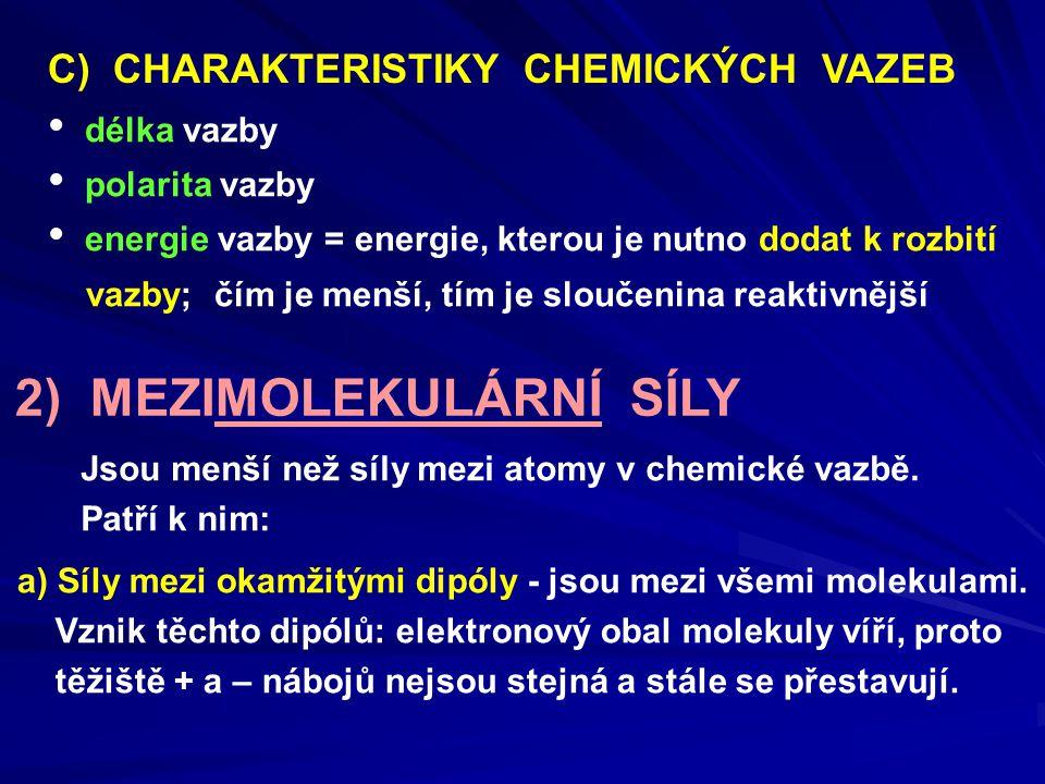 2) MEZIMOLEKULÁRNÍ SÍLY