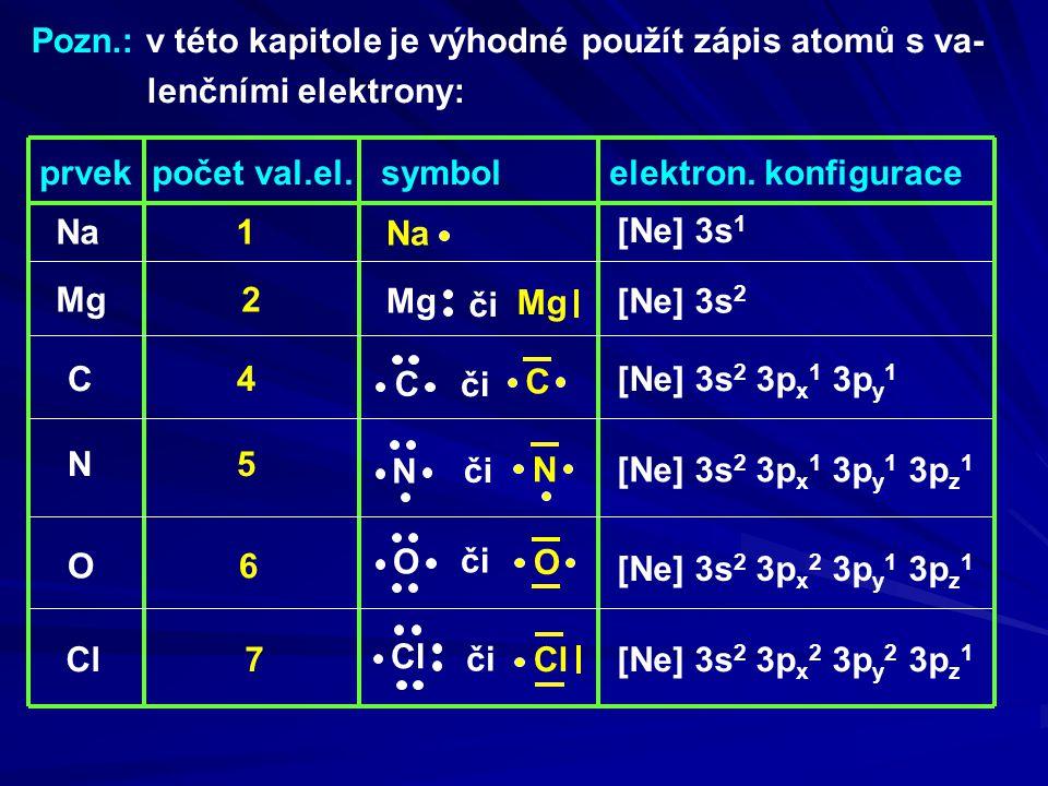 Pozn.: v této kapitole je výhodné použít zápis atomů s va-