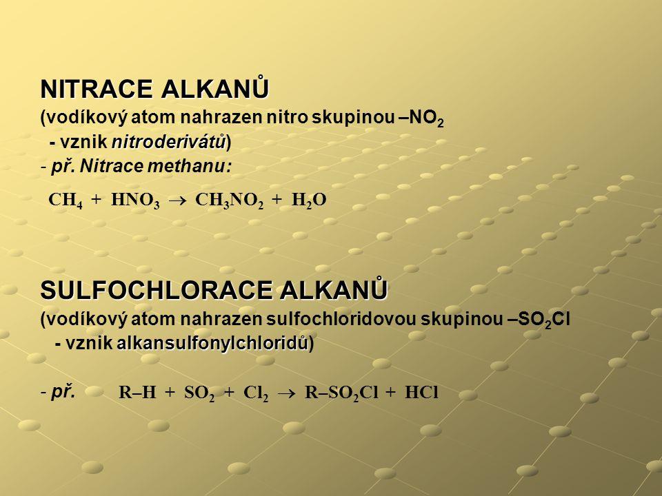 R–H + SO2 + Cl2  R–SO2Cl + HCl