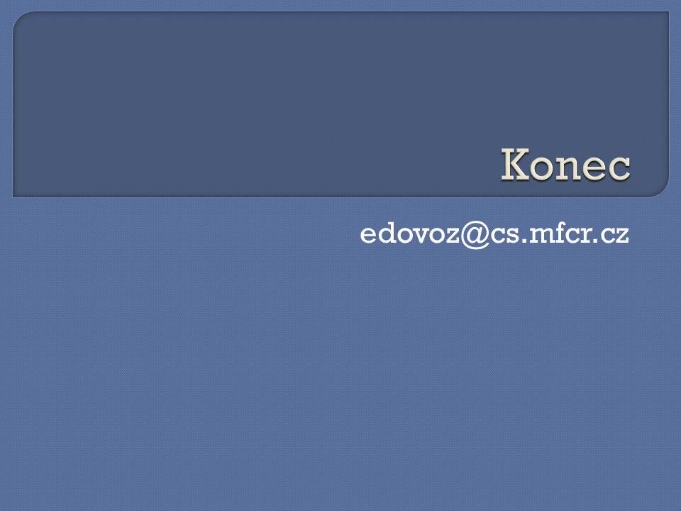 Konec edovoz@cs.mfcr.cz