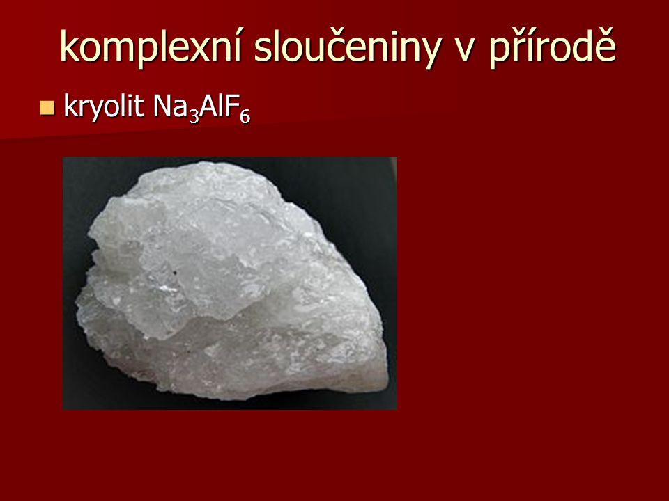 komplexní sloučeniny v přírodě