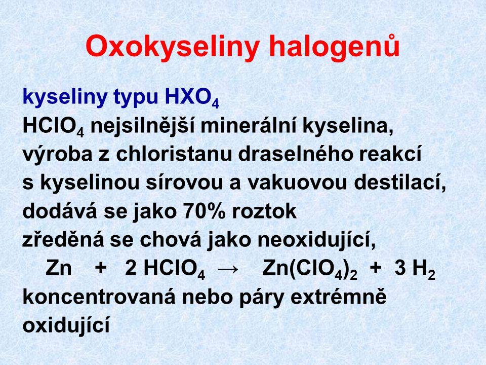 Oxokyseliny halogenů kyseliny typu HXO4