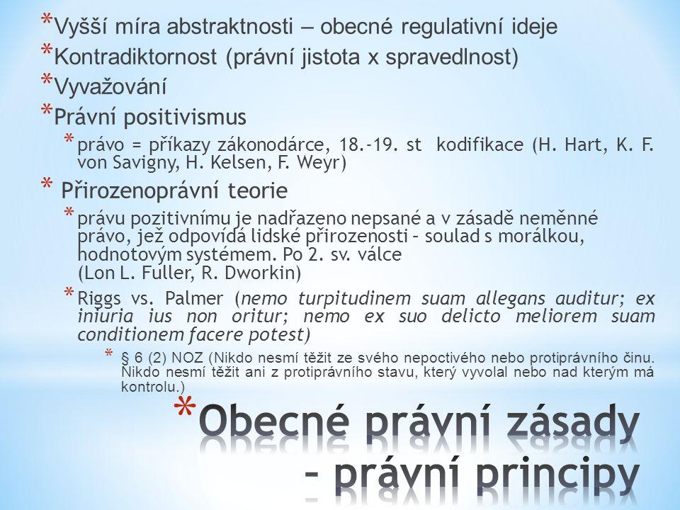 Obecné právní zásady – právní principy