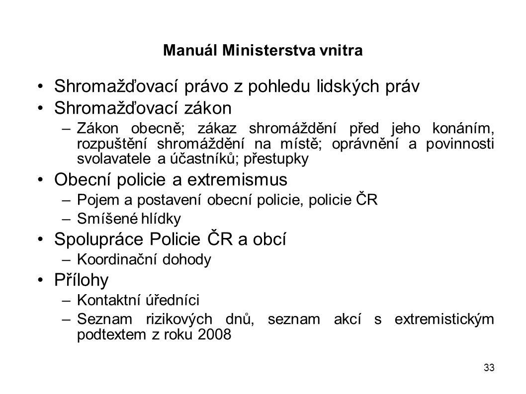 Manuál Ministerstva vnitra