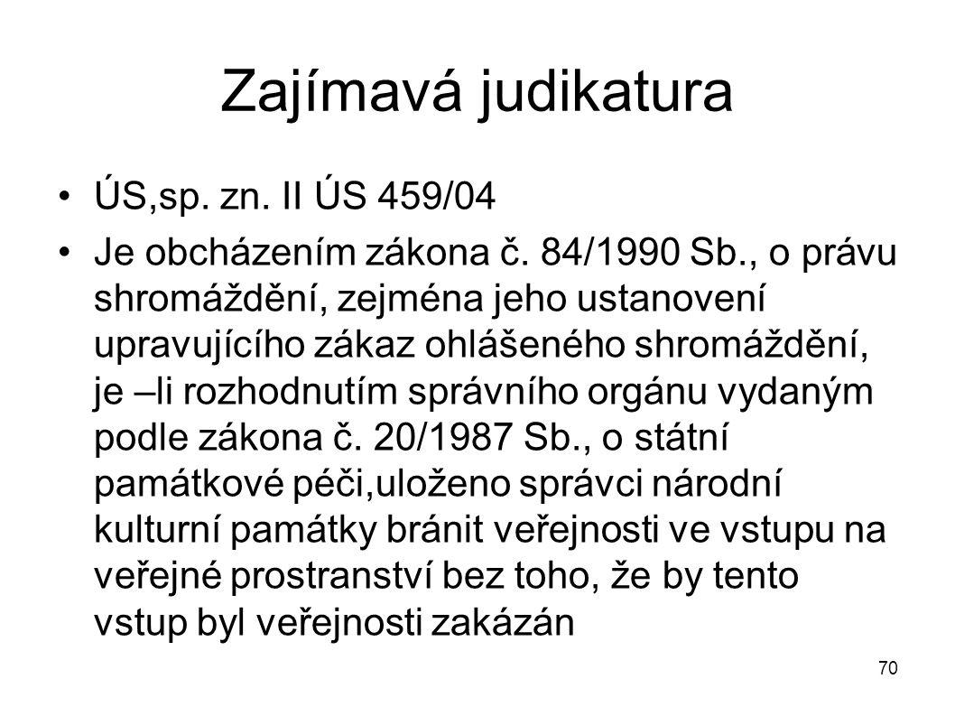 Zajímavá judikatura ÚS,sp. zn. II ÚS 459/04