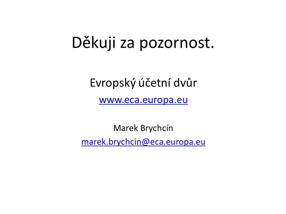 Děkuji za pozornost. Evropský účetní dvůr www.eca.europa.eu