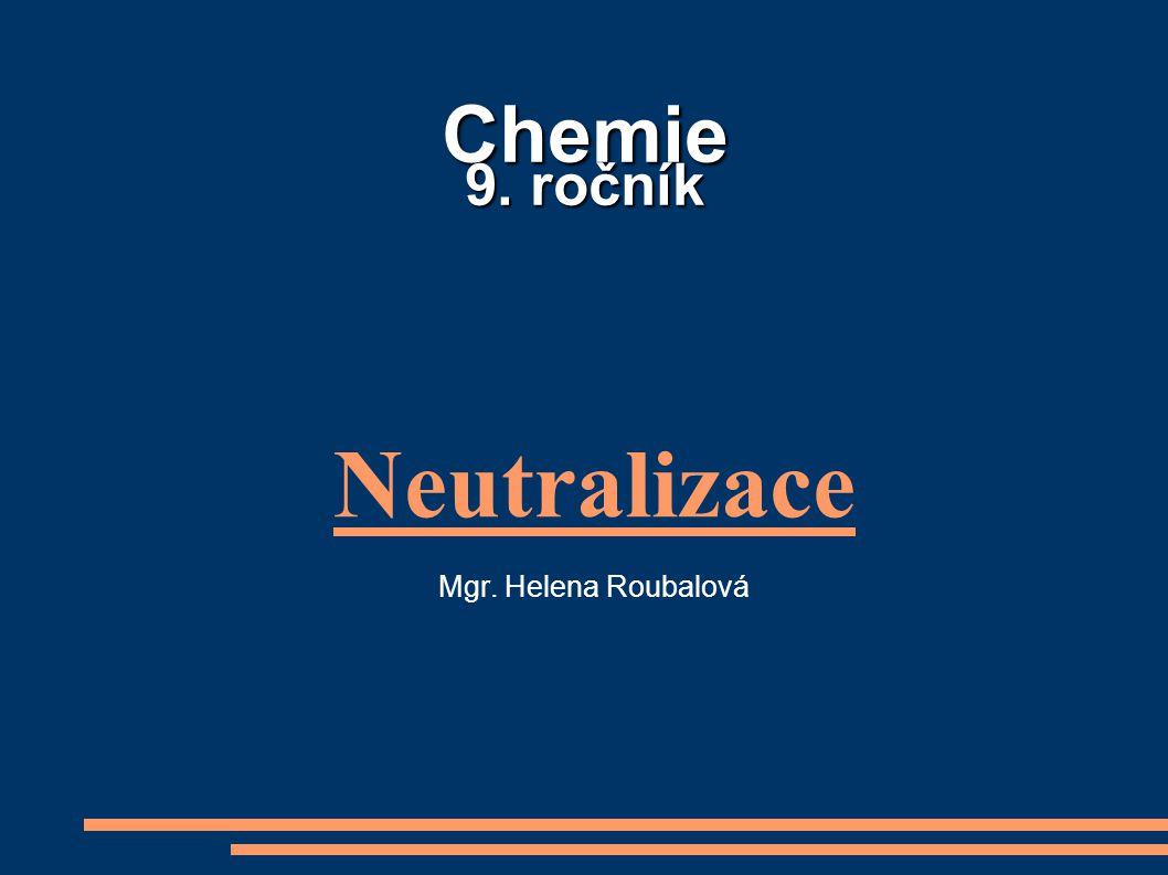 Neutralizace Mgr. Helena Roubalová