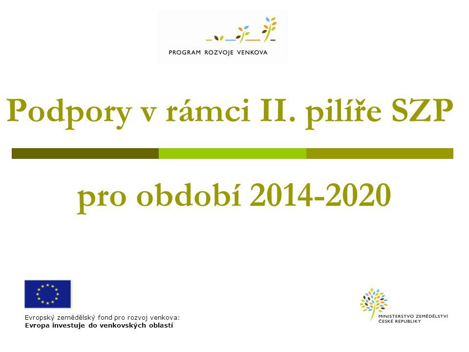 Podpory v rámci II. pilíře SZP pro období 2014-2020