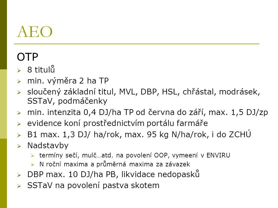 AEO OTP 8 titulů min. výměra 2 ha TP