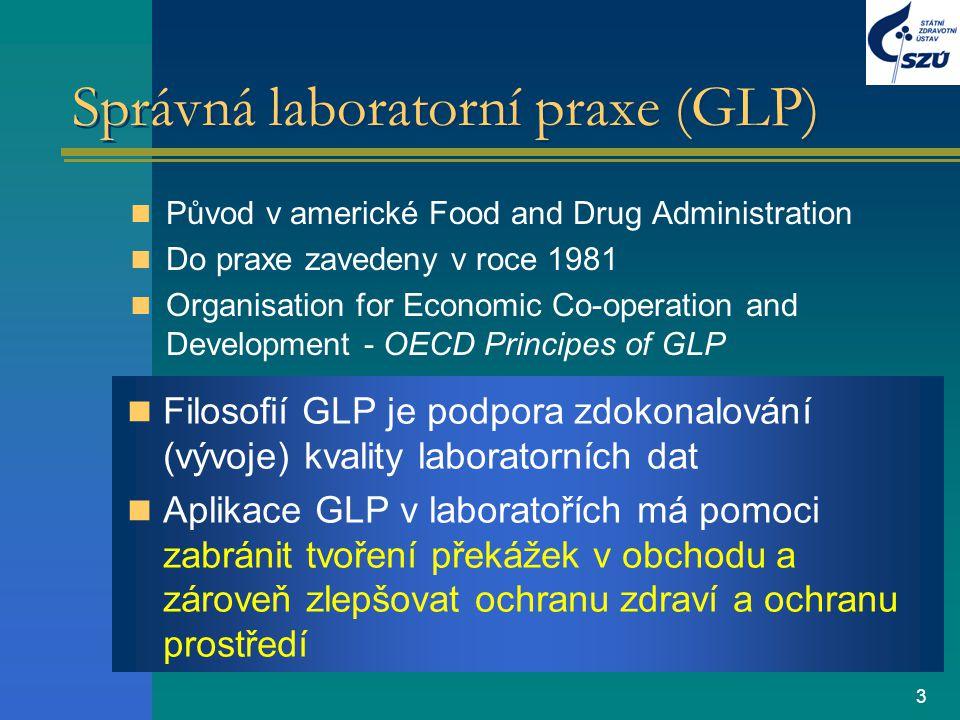 Správná laboratorní praxe (GLP)
