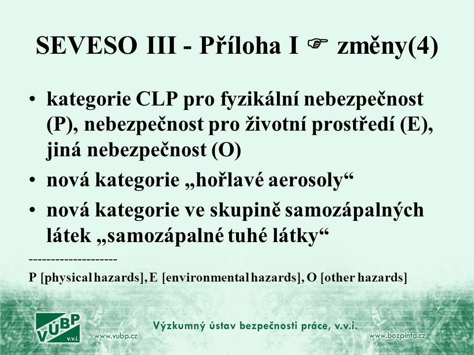 SEVESO III - Příloha I  změny(4)