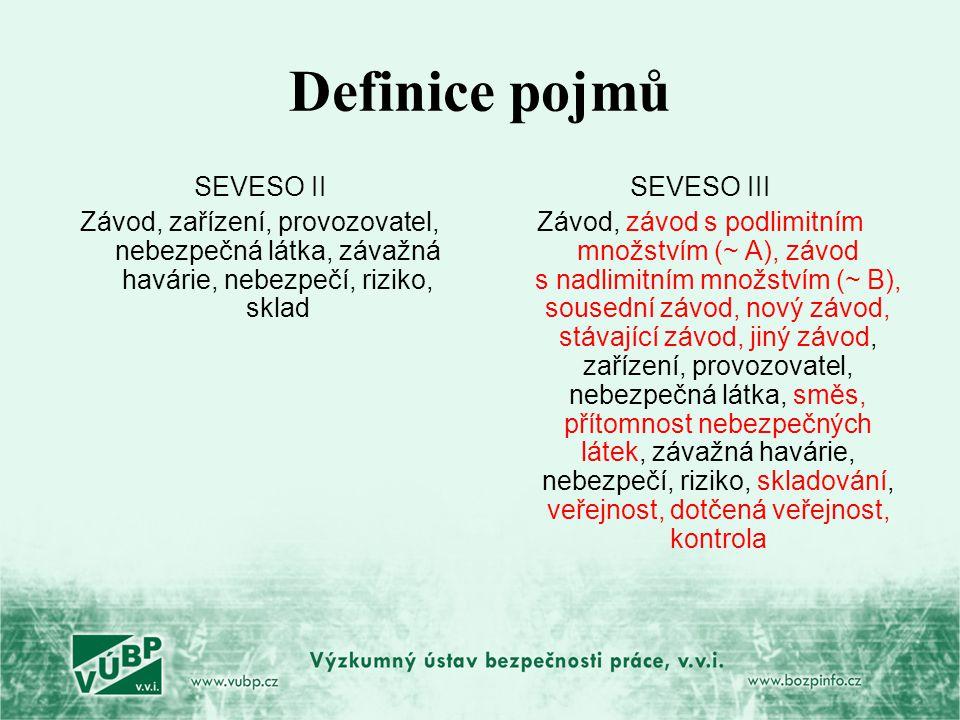 Definice pojmů SEVESO II