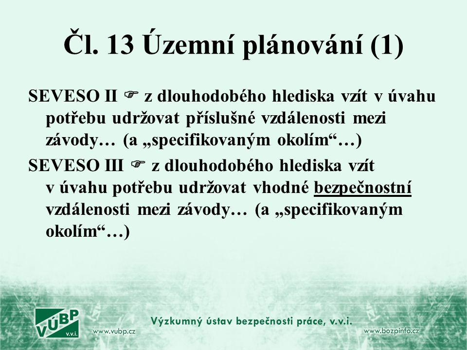 Čl. 13 Územní plánování (1)
