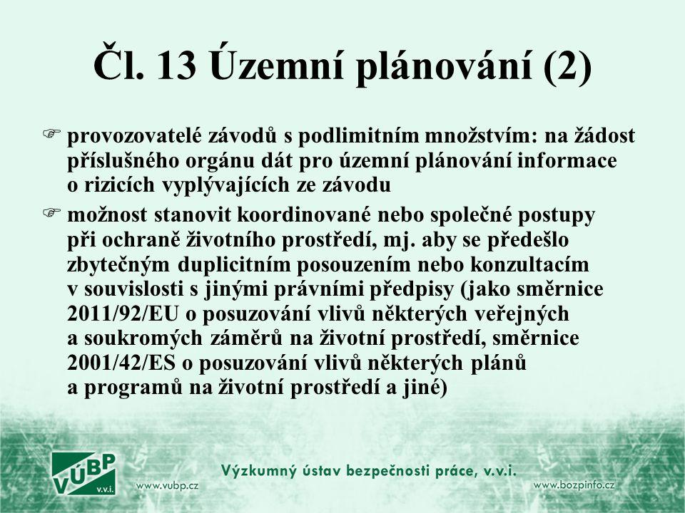 Čl. 13 Územní plánování (2)