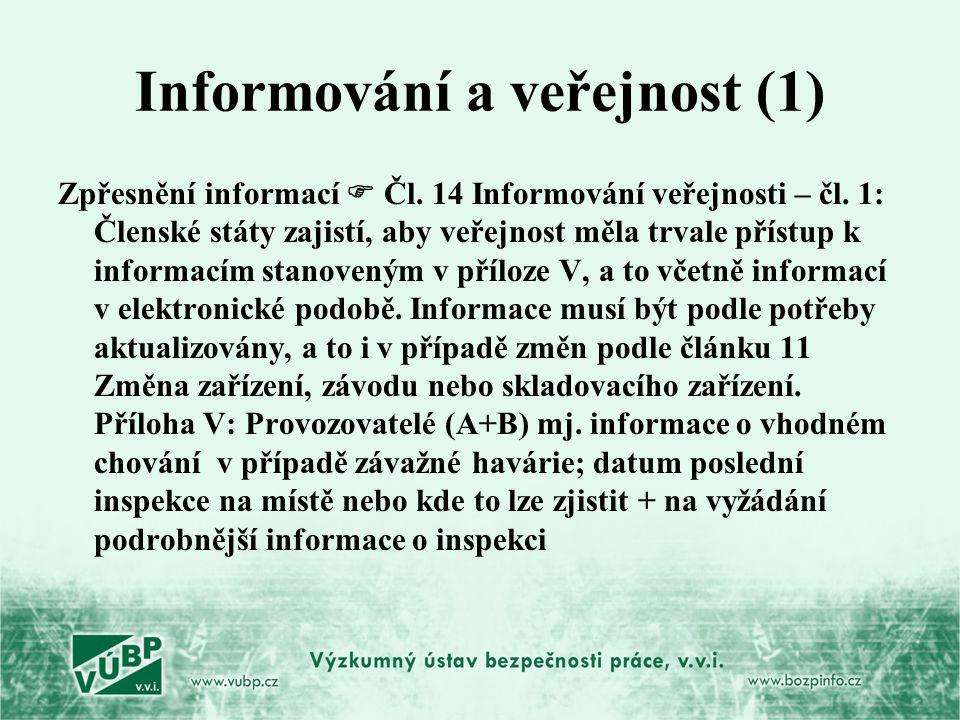 Informování a veřejnost (1)