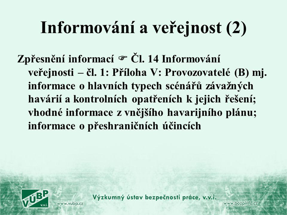 Informování a veřejnost (2)