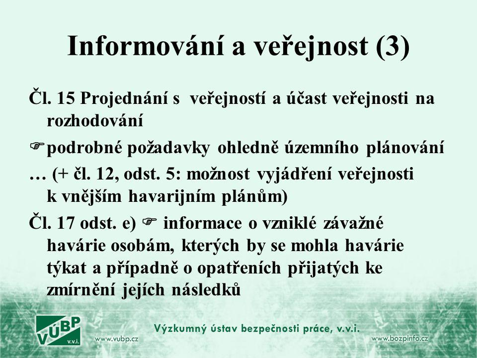 Informování a veřejnost (3)