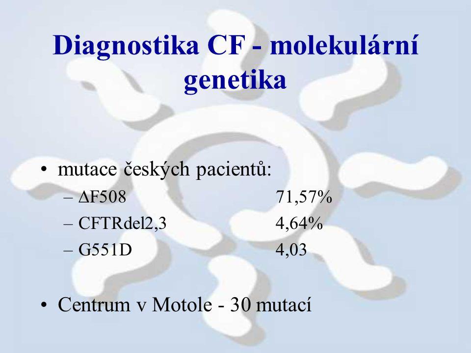 Diagnostika CF - molekulární genetika