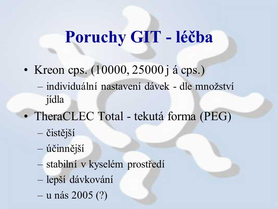 Poruchy GIT - léčba Kreon cps. (10000, 25000 j á cps.)