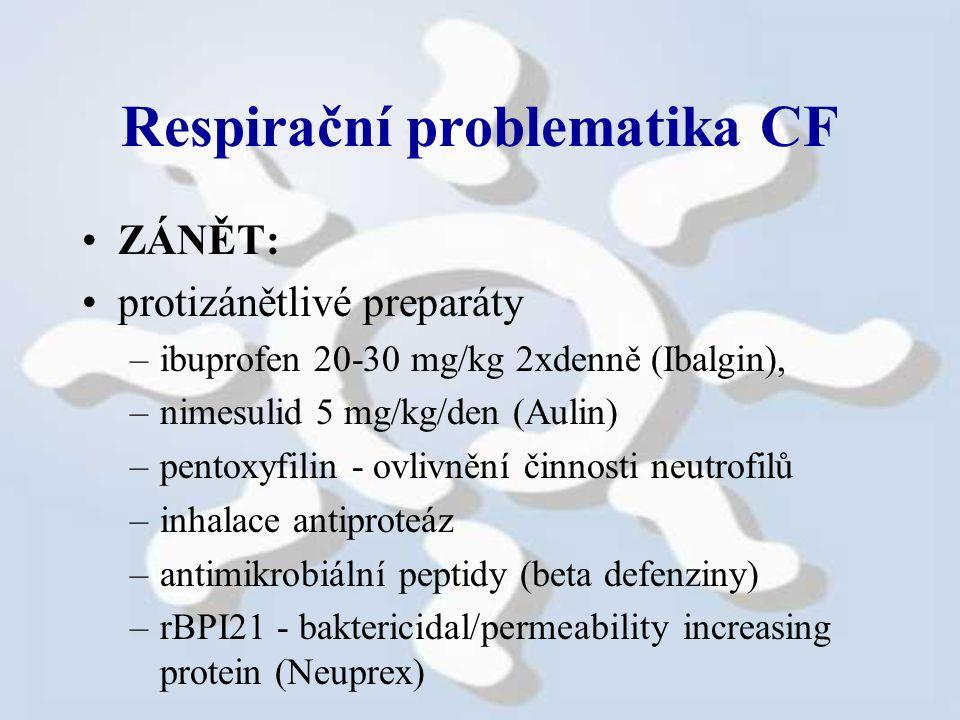 Respirační problematika CF