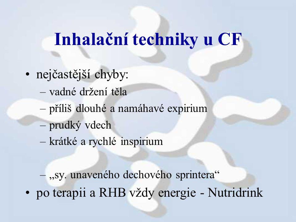 Inhalační techniky u CF