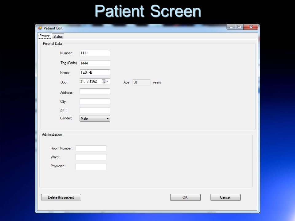 Patient Screen 12
