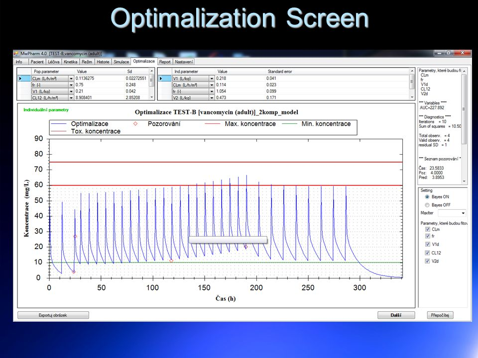 Optimalization Screen