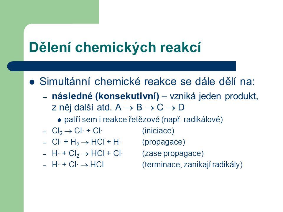 Dělení chemických reakcí