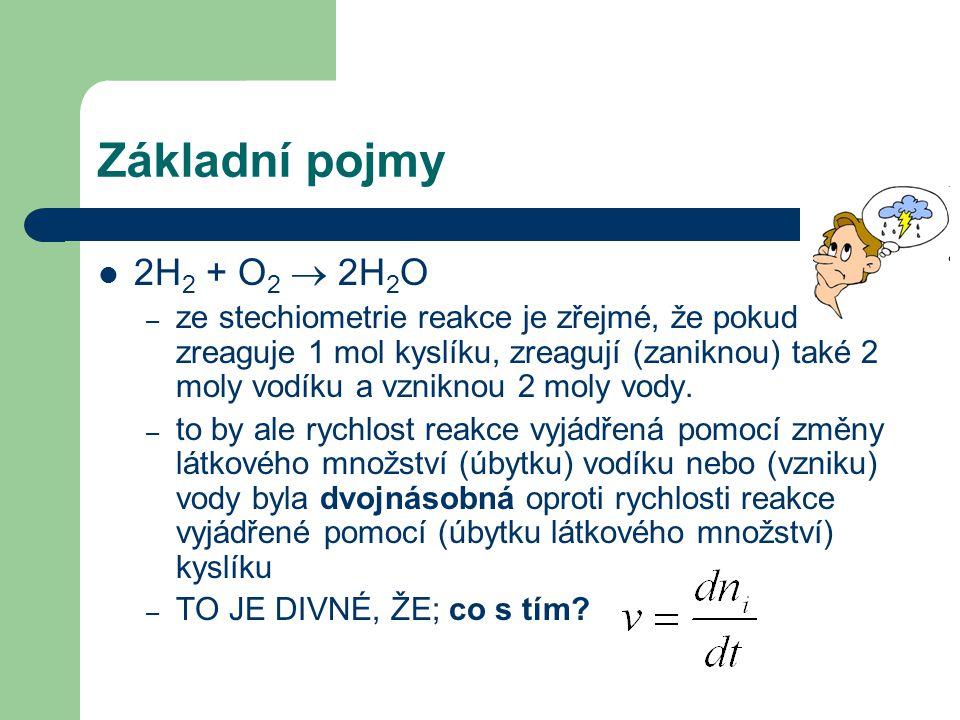 Základní pojmy 2H2 + O2  2H2O.