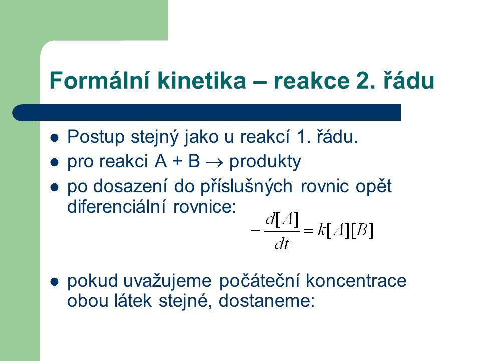 Formální kinetika – reakce 2. řádu