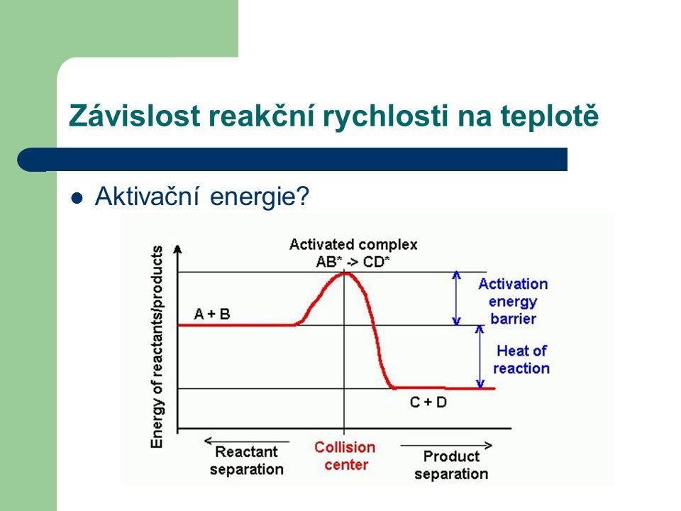 Závislost reakční rychlosti na teplotě