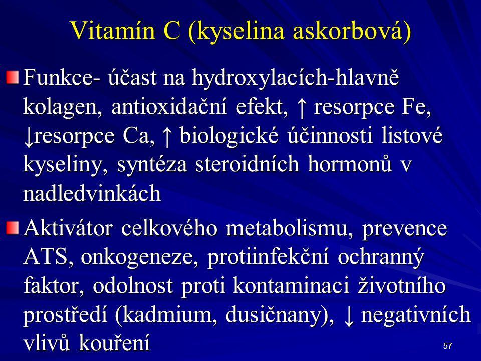 Vitamín C (kyselina askorbová)