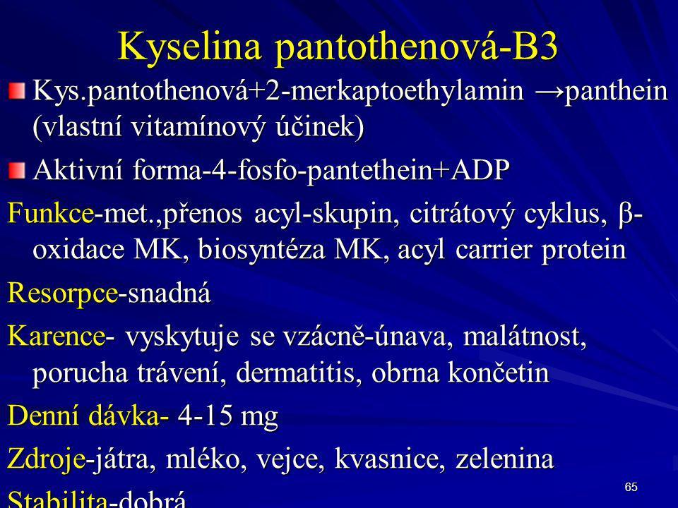 Kyselina pantothenová-B3