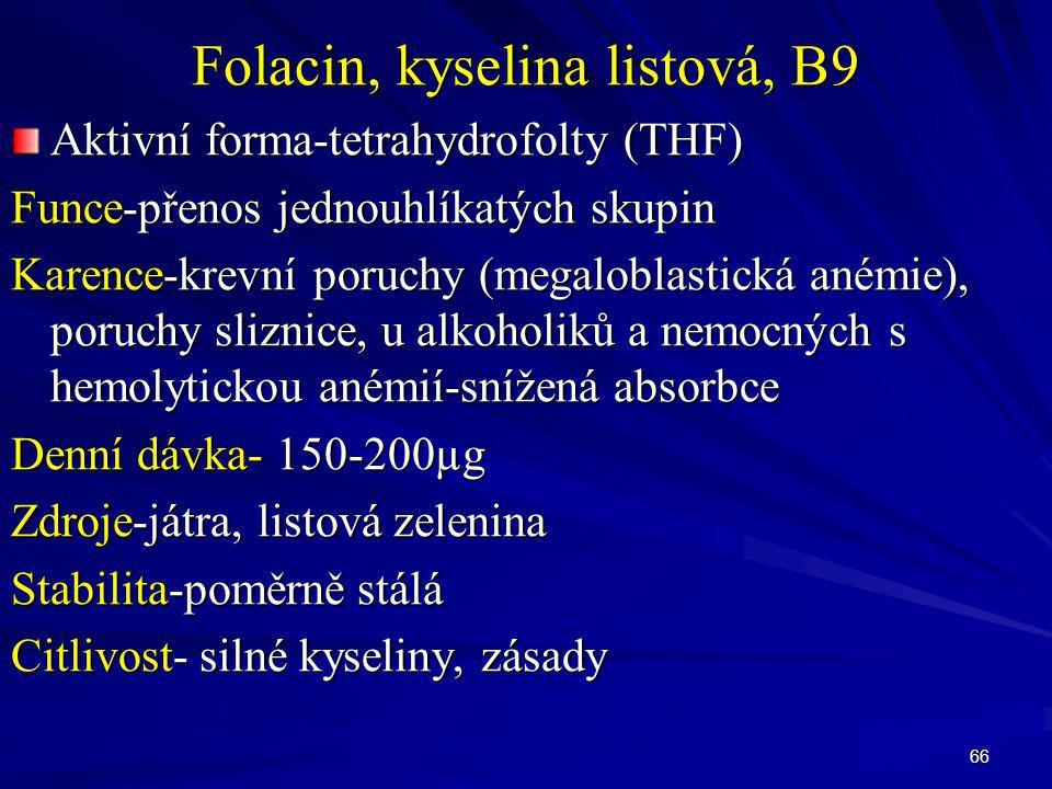 Folacin, kyselina listová, B9